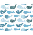 whales pattern vector image vector image