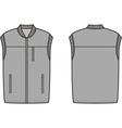 Work winter vest vector image vector image