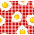 Seamless pattern with fried eggs vector image