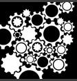 black gears mechanism background vector image