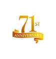 71 year ribbon anniversary vector image vector image
