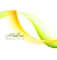 Abstract bright green yellow soft waves vector image