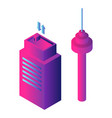 airport building icon isometric style vector image