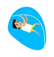 Athlete Performing a Pole Vault Sports Icon vector image vector image