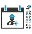 Atomic Engineer Calendar Day Icon With vector image vector image