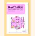 beauty salon poster template layout hairdressing