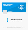 blue business logo template for algorithm design vector image vector image