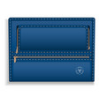 blue leather folder icon realistic style vector image