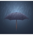 Blue umbrella and fall rain Cool water storm vector image vector image