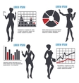 Business Woman with Charts set vector image