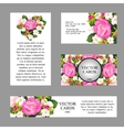 Cards with texture of pink peonies vector image vector image