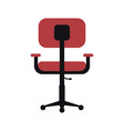 chair office flat vector image vector image