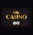 chic casino sign vector image