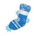 christmas stocking vector image vector image