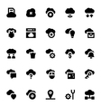 Cloud Data Technology Icons 3 vector image vector image