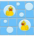 colored background with yellow ducks vector image vector image