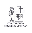 construction engineers company line icon vector image vector image