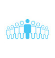crowd of nine people icon silhouettes social vector image vector image