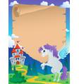 fairy tale theme parchment 5 vector image vector image
