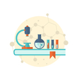 flat icon of objects chemical laboratory vector image vector image