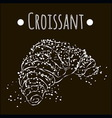 fresh and crispy croissant black and white vector image