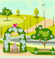 garden wedding arch in park vector image vector image