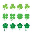 green clover leaves set vector image