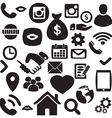 Hand drawn finance Network icon set vector image vector image