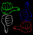 Hand gesture yes and no vector image