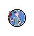 Handyman Monkey Wrench Circle Cartoon vector image vector image