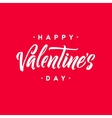 Happy Valentine s Day Hand Lettering Greeting vector image