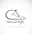 Horse and dog vector image vector image