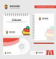 ice cream logo calendar template cd cover diary vector image