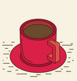 isometric cup eps 10 vector image vector image
