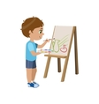 Little Boy Painting vector image vector image