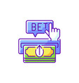 making deposit rgb color icon vector image