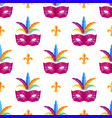 mardi gras festival mask wrapping paper vector image vector image
