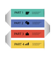 modern info graphic element vector image vector image