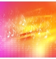 Music notes bright abstract background vector image vector image