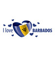 national flag barbados in shape vector image vector image