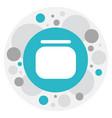 of hairdresser symbol on jar vector image