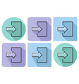outlined icon of entrance login registration etc vector image vector image