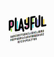 playful colorful font vector image vector image