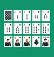 playing cards club suit vector image