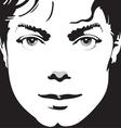 portrait vector image vector image