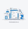 programming skills vector image vector image