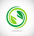 recycle green leaf environment logo vector image vector image