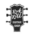 rock and roll guitar headstock with lettering vector image vector image