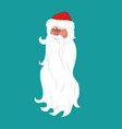 santa claus face isolated grandfather head with vector image