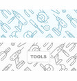 seamless pattern with construction tools icons vector image vector image